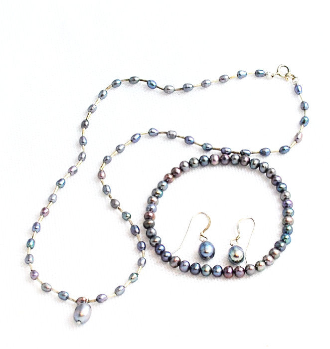 Peacock Pearl Necklace Set