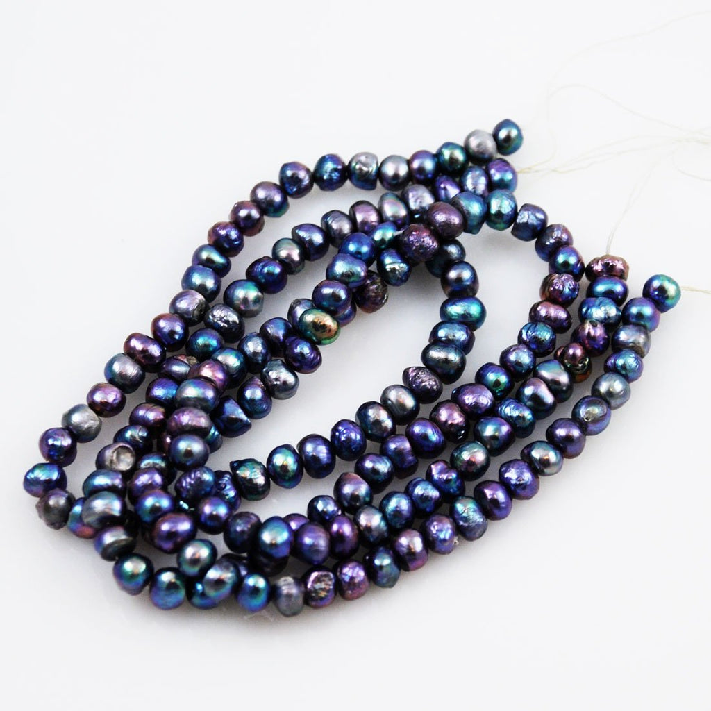Purple Peacock Freshwater Pearl Beads