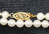 Akoya White Cultured Pearl Matinee Necklace 14kt Clasp