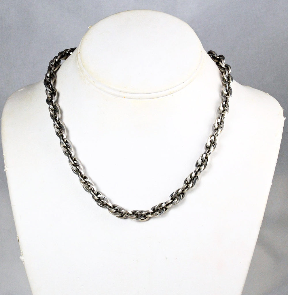 Perky Modes Heavy Chain Necklace Vintage 1950's