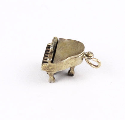 Wells Sterling Grand Piano Charm Vintage