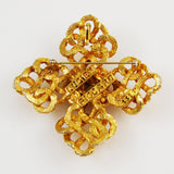 Lucien Piccard Gold Cross Brooch