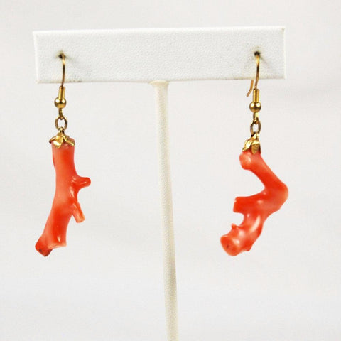 Pink Coral Branch Earrings Mark Christopher