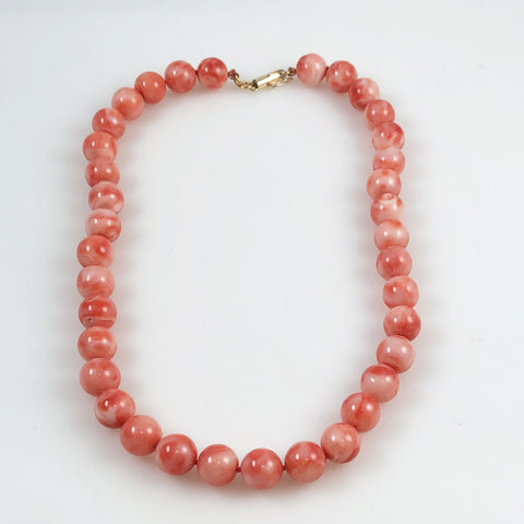 Pink Coral Necklace 10.5m