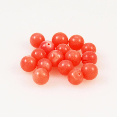 Dark Pink Coral Beads Rounds