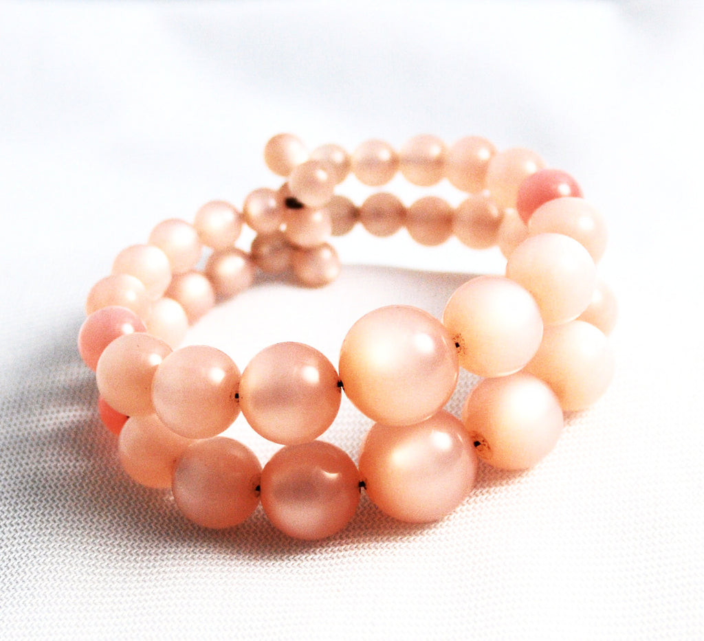 Pink Moonglow Beaded Bracelet