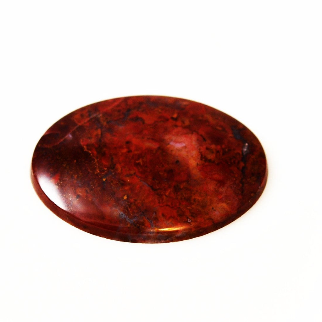 Large Poppy Jasper Gemstone Oval Cabochon 55mm