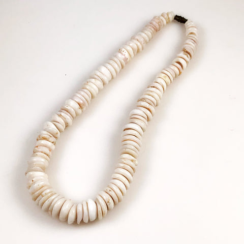 Large Puka Shell Necklace Vintage
