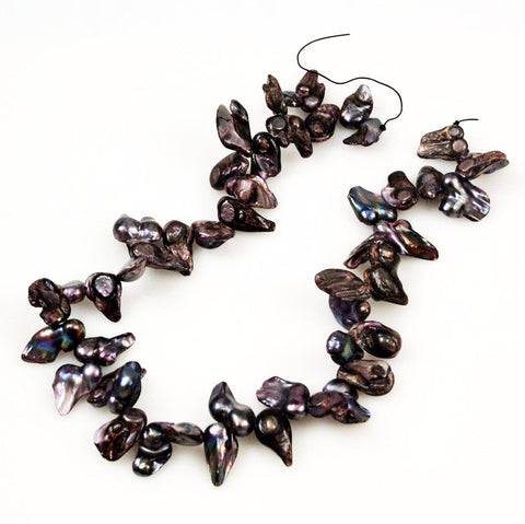 Large Purple Peacock Blister Pearl Beads