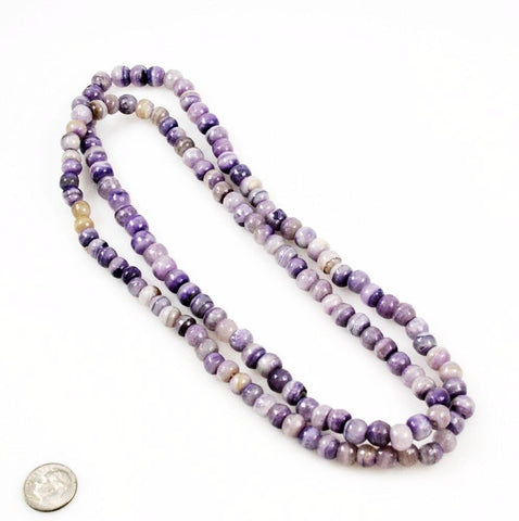 Purple Banded Onyx Beads 8mm