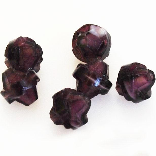 Purple Saturn Glass Beads