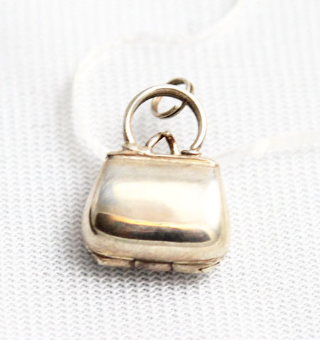 Sterling Silver Purse or Handbag Charm Vintage