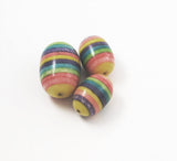 Colorful coral laminated beads vintage