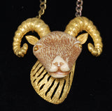 Razza Zodiac Aries Ram Necklace Vintage
