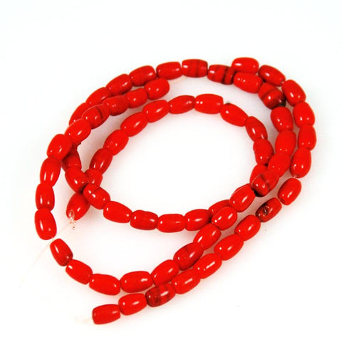Antique Faux Red Coral Glass Trade Beads