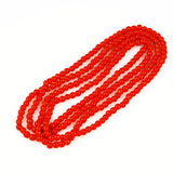 Faux Red Coral Round Glass Trade Beads 4.5mm