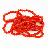 Red Coral Round Glass Trade Beads 4.5mm