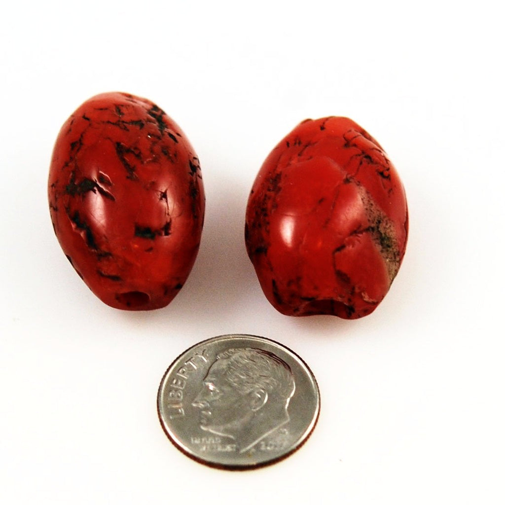 Ancient Red Jasper African Trade Beads