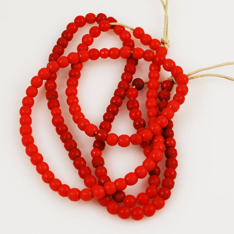 African Trade Red Prosser Beads