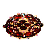 Large Red Rhinestone Brooch Vintage