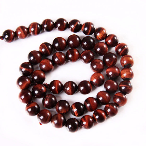 Red Tiger's Eye Gemstone Rounds