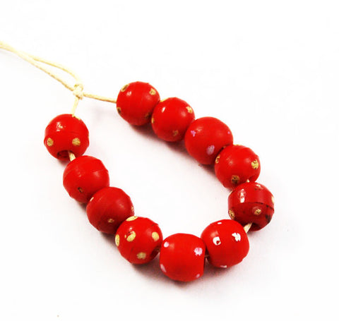 Antique Red Skunk Trade Beads