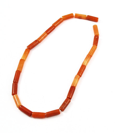 Red Aventurine Gemstone Tube Strand