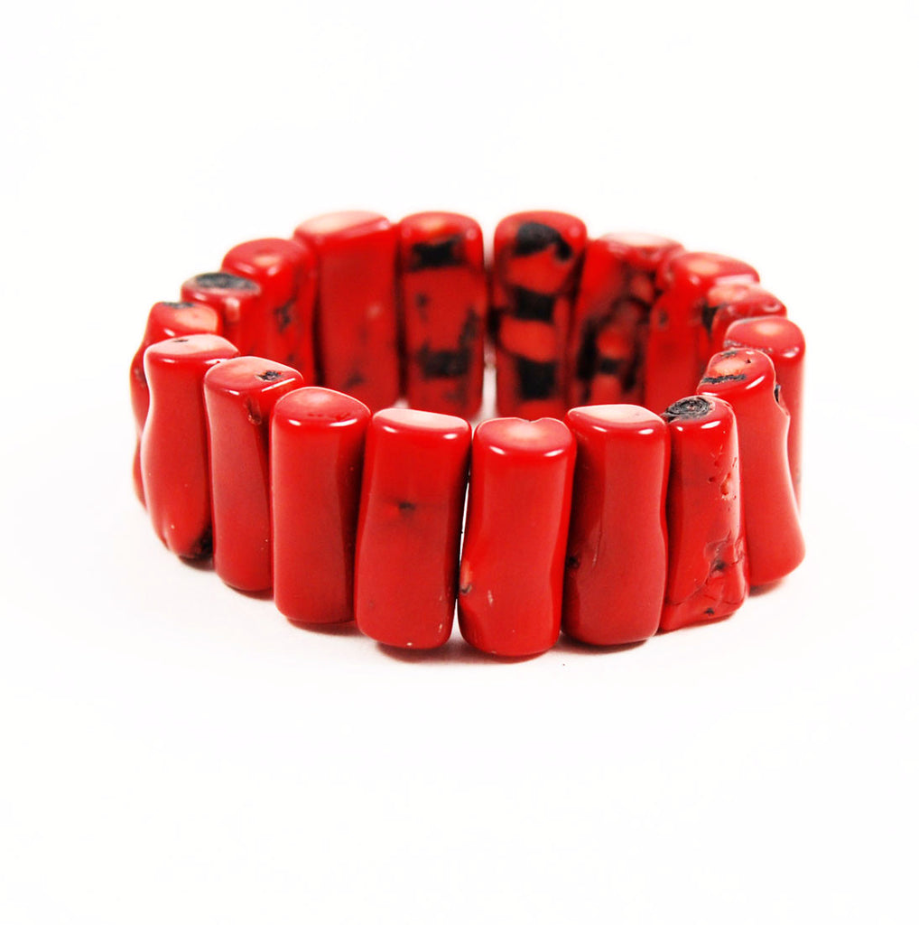 Red Coral Bracelet Bold & Chunky