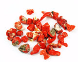 Italian Red Coral Chip Beads