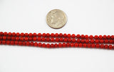 Italian Red Coral Round Bead AA Strand All Natural 4-6mm