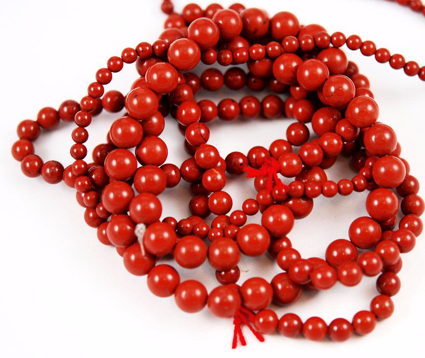 Red Jasper Round Gemstone Bead Strands