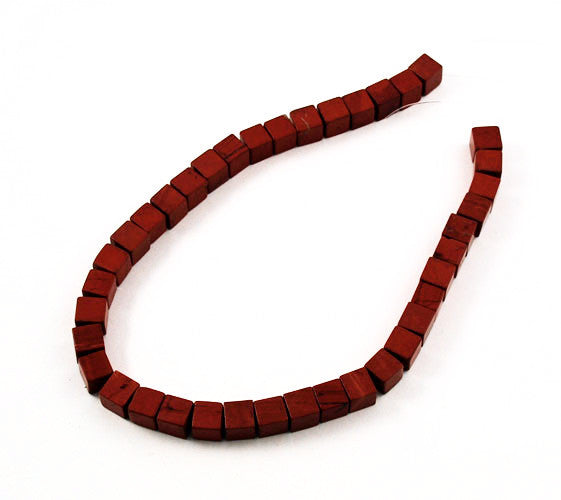 Red Jasper Square Gemstone Bead Strands