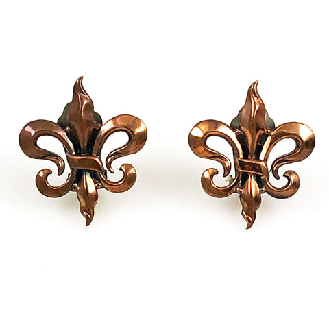 Renoir Copper Fleur de Lis Earrings