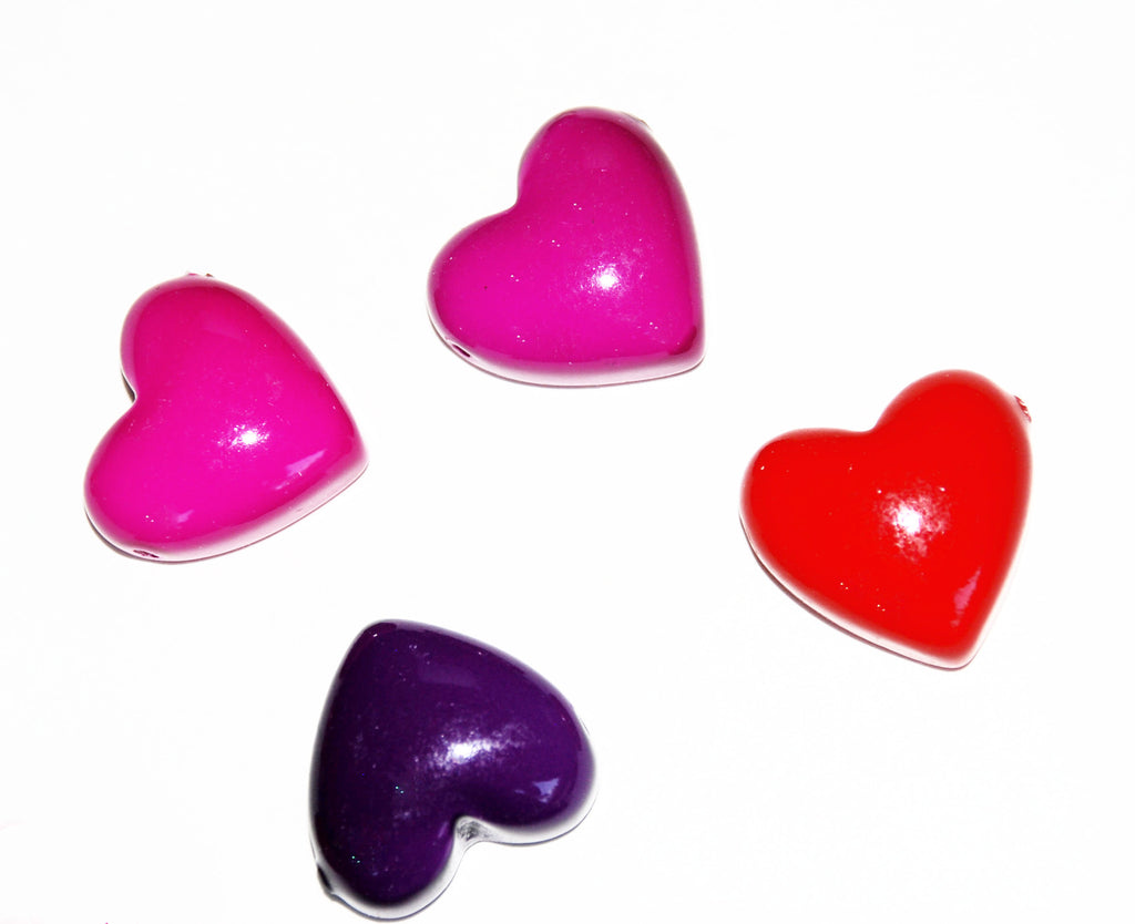 Vintage Resin Heart Beads