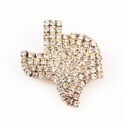 Rhinestone State of Texas Brooch Vintage