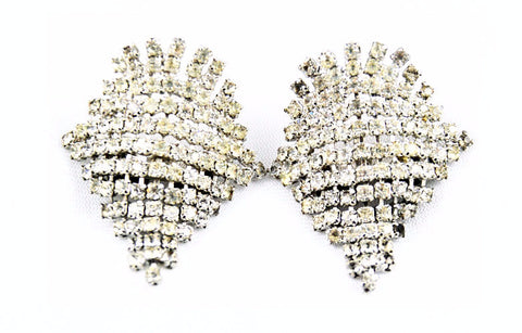 Rhinestone Waterfall Shoe Clips 1940's
