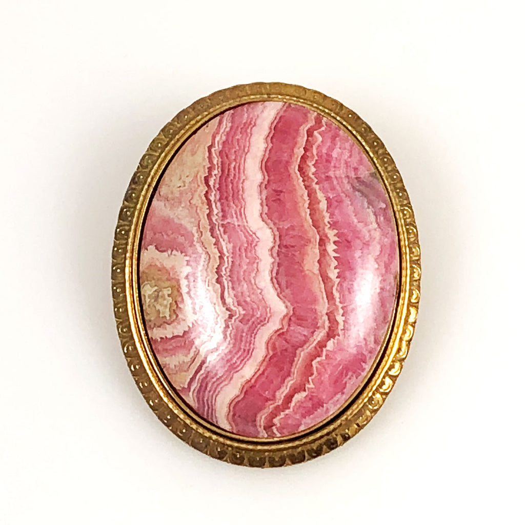 Rhodochrosite Pin and Pendant Vintage
