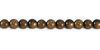 Robles Wood Round Bead Strands