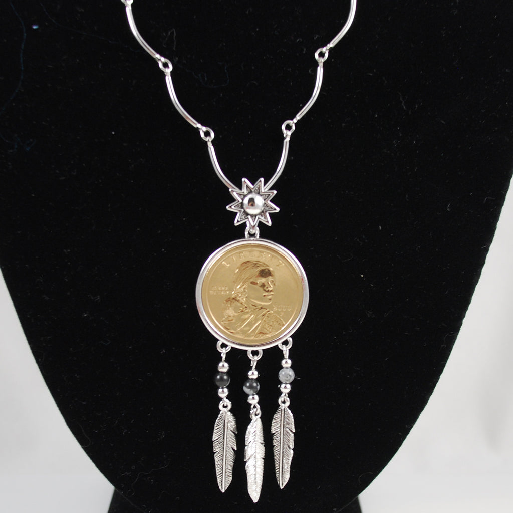 Sacagawea Coin Necklace US Mint 2000