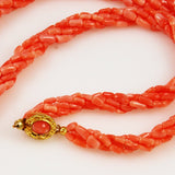Salmon Pink Coral Necklace Clasp