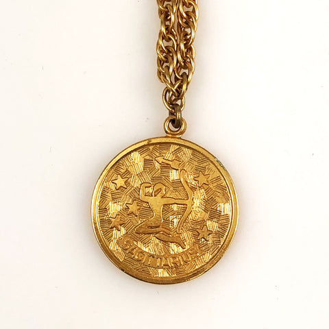 Sarah Coventry Gold Sagittarius Necklace