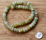 Multi-colored Green Serpentine Faceted Rondelle Bead Strands