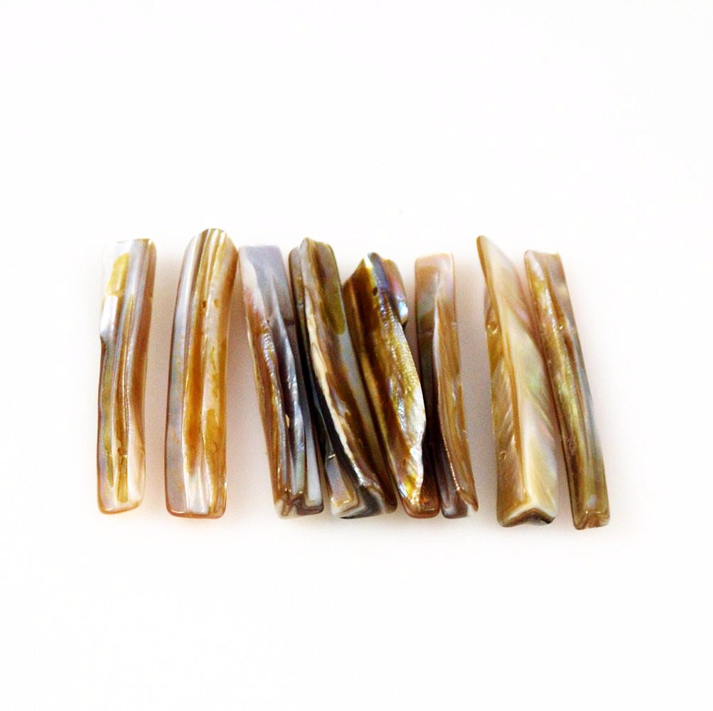 Shell Stick Beads Double Drilled