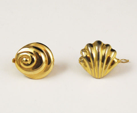 Gold Plated Shell Twister Clasps 2