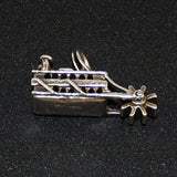 Show Boat Paddle Wheel Charm Sterling