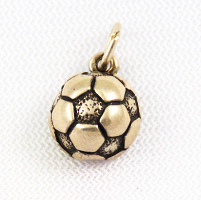 Sterling Silver Soccer Ball Charm Vintage