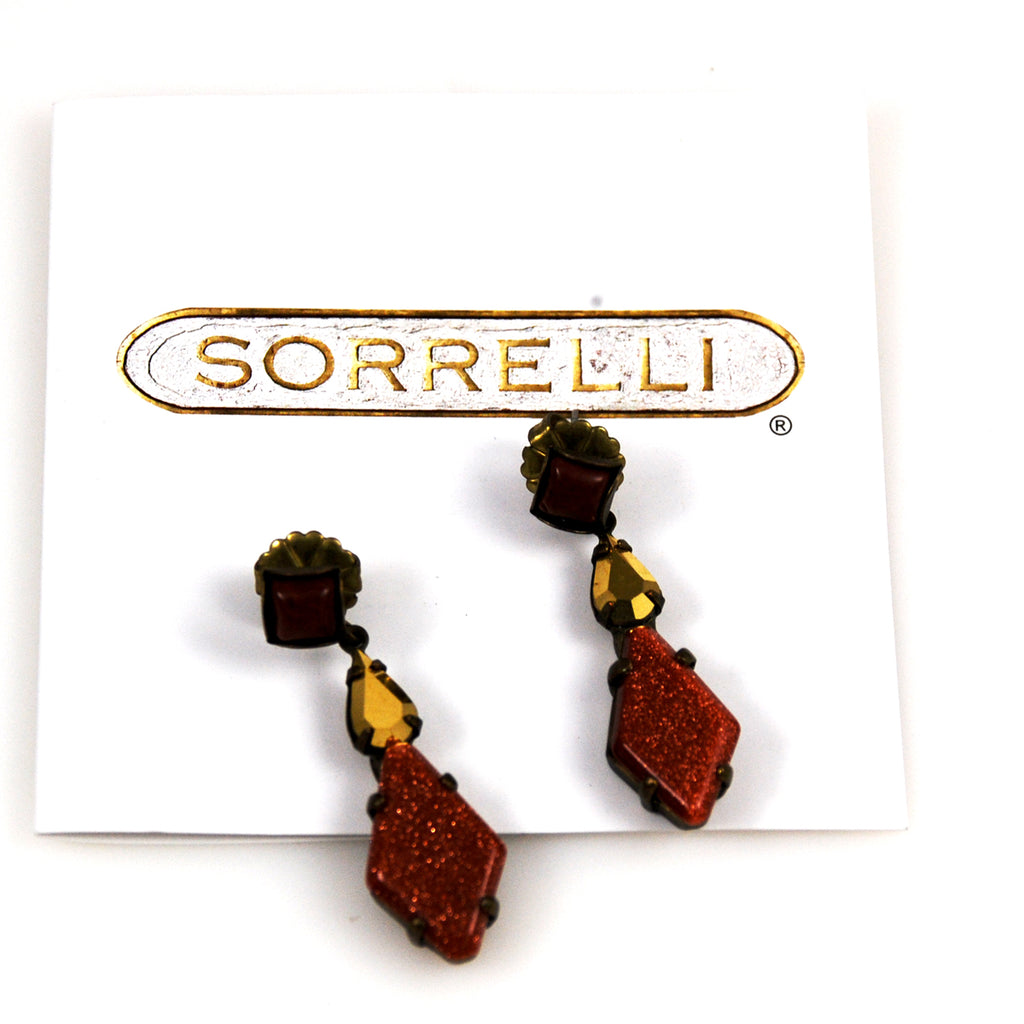 Sorrelli Goldstone Earrings New