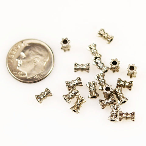 Pewter Tube Beads