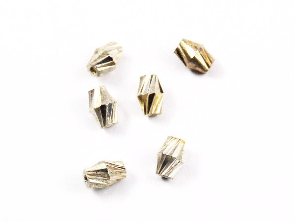 Silver Plated Corrugated Twist Beads