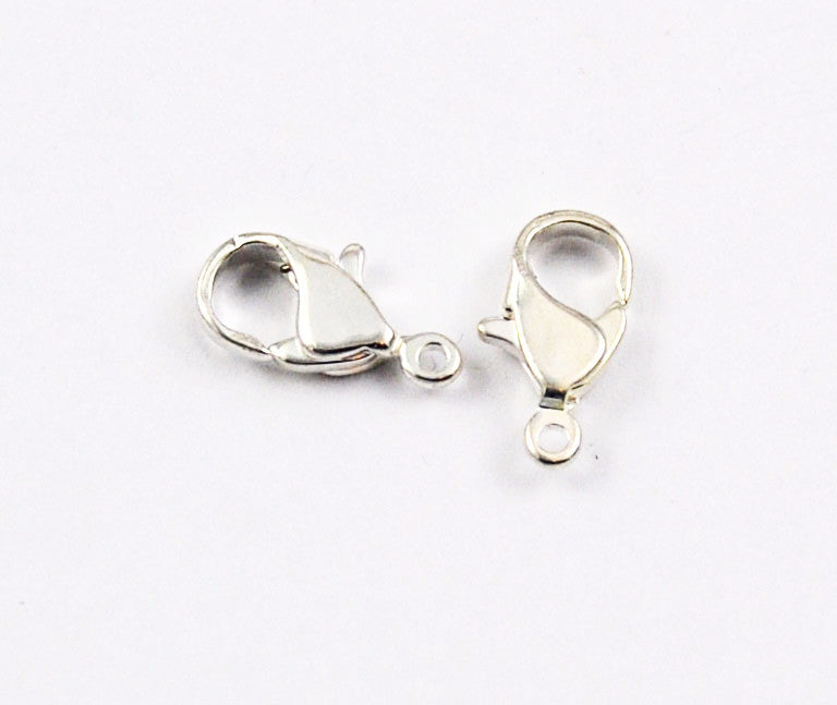 Silver Plated Lobster Clasps 14 x 8mm